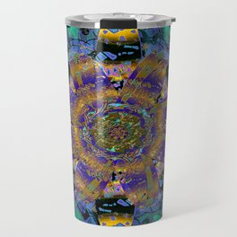 Purple Gold Dream Catcher Mandala Travel Mug