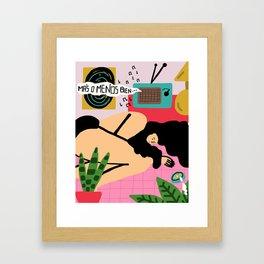 Más o menos bien Framed Art Print