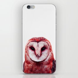 Red owl iPhone Skin