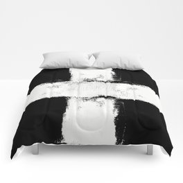 Abstract Painting Black & White Comforters