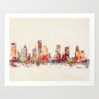 houston Art Prints featuring houston texas by bri.buckley