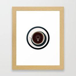 Coffee lights up my idea - I love Coffee Framed Art Print