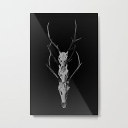 Totem Deer Skulls Metal Print