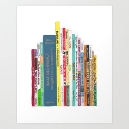 Children's Books Bookshelf (great baby shower gift!) Art Print