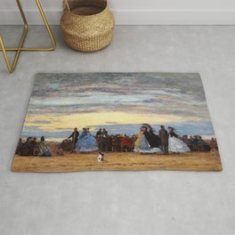 The Beach At Villerville - Digital Remastered Edition Rug