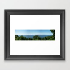 View From The Hill Framed Art Print