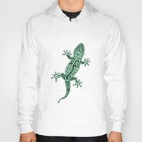 ornate Hoodies featuring Ornate Lizard by Barruf
