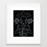 witchcraft Framed Art Prints featuring Witchcraft by Auberginen