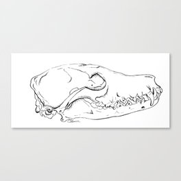 Fox Skull Canvas Print