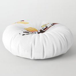 Sushi Poolparty funny Japanses Food Rice and Fish present gift Floor Pillow