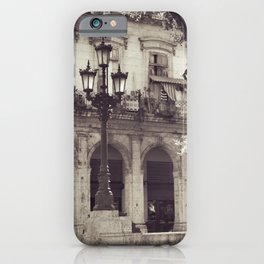 Day of playing outside | Havana, Cuba | Fine Art Black and White Photography iPhone Case