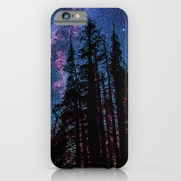 Celestial Starlight in the Forest  iPhone Case