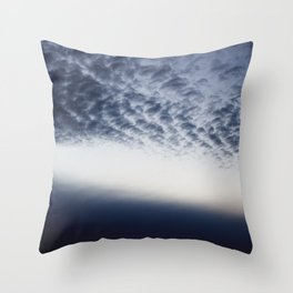 Drama above the Fjord Throw Pillow