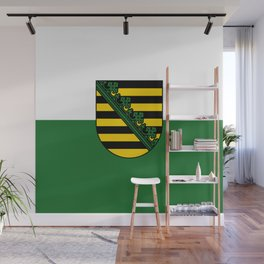 flag of Sachsen (historic state) Wall Mural