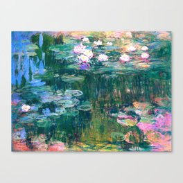 water lilies : Monet Canvas Print