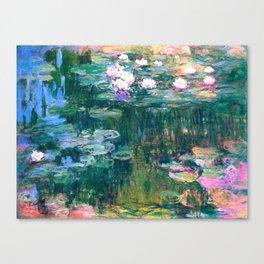 water lilies : Monet Canvas Print