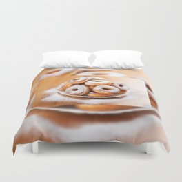 Pile of sweet homemade doughnuts Duvet Cover