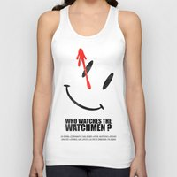 watchmen Tank Tops featuring The Watchmen (Super Minimalist series) by Itomi Bhaa