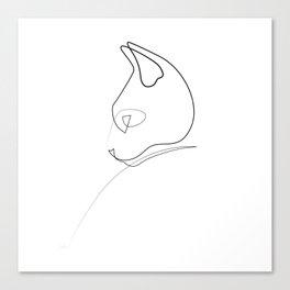 Oneline Cat 2 Canvas Print