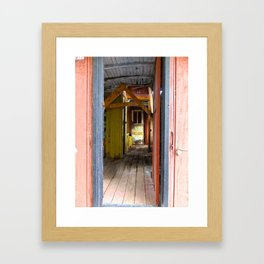 Old Caboose Door Framed Art Print