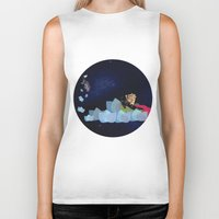 swimming Biker Tanks featuring swimming by HanadaCreations