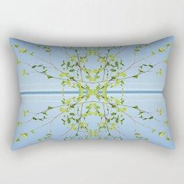 Birch on blue Rectangular Pillow