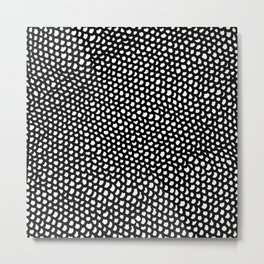 black and white abstract drawing Metal Print