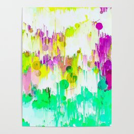 Melting Pastels Abstract Design Poster
