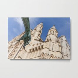 Hand Of York Minster Metal Print
