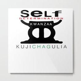 KUJICHAGULIA = SELF DETERMINATION Metal Print