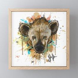 Spotted Hyena Framed Mini Art Print