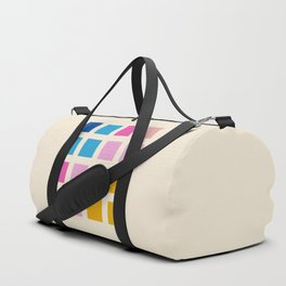 Retro Squares 01 Duffle Bag