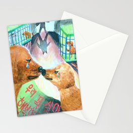 "Kim Sae Un ""We should survive and live a happy life."" Stationery Cards"