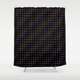 Inline Flower Rainbow Pattern Shower Curtain