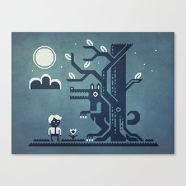 Midnight Menace Canvas Print