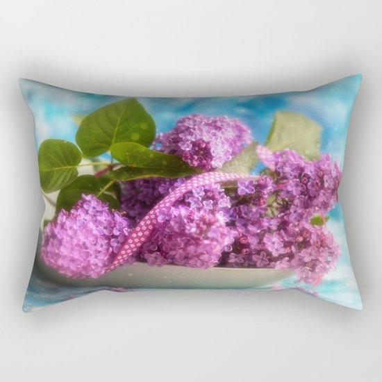 Syringa vulgaris #lilac still life Rectangular Pillow