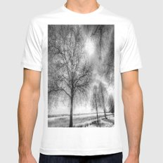 The Ghostly Farm MEDIUM Mens Fitted Tee White