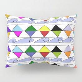 Pyramids & Waves Pillow Sham