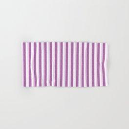 Light Purple and White Retro Vintage Grunge style pattern Hand & Bath Towel