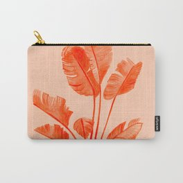 Coral Banana Plant Carry-All Pouch