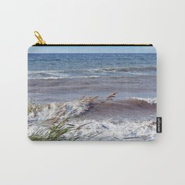Waves Rolling up the Beach Carry-All Pouch