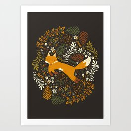 Fox Tales Art Print