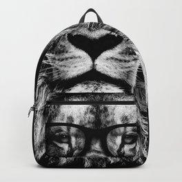 Hipster Lion Black Backpack