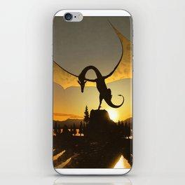 Dragon Sunset iPhone Skin