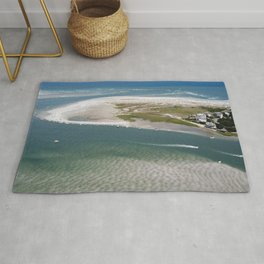 Rich's Inlet at the North End of Figure 8 Island 2   Wilmington NC Rug