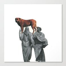 plato n aristotle walking their doge Canvas Print