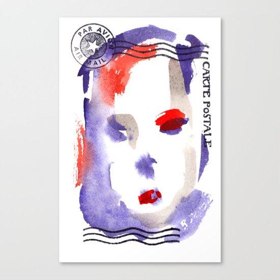 Carte Postale 2 Canvas Print