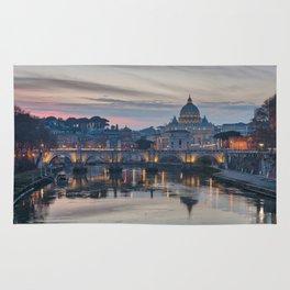 Saint Peter's Basilica at Sunset Rug