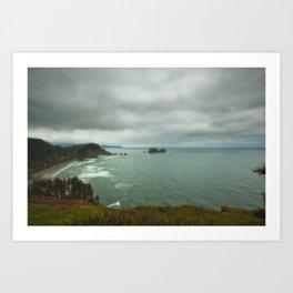 Storm at sea Art Print