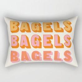 BAGELS BAGELS BAGELS Rectangular Pillow